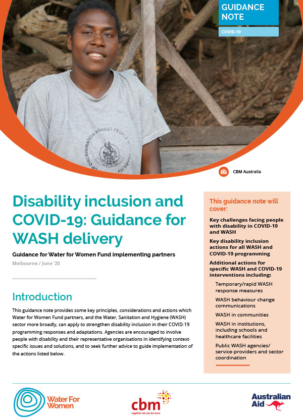 Disability Inclusion cover page